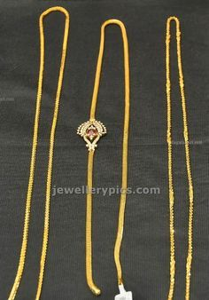 Gold Thali kodi chain design by Hiya jewellers - Latest Jewellery Designs