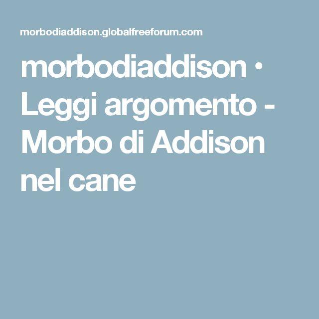 morbodiaddison • Leggi argomento - Morbo di Addison nel cane