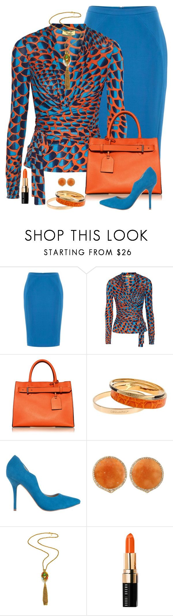"""""""Untitled #2703"""" by nancymcd ❤ liked on Polyvore featuring Issa, Reed Krakoff, Dsquared2, SPURR, Bochic and Bobbi Brown Cosmetics"""