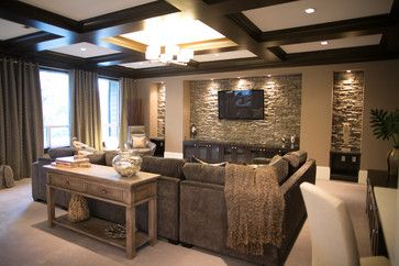 Sectional den decorating ideas | Contemporary Home cozy ...