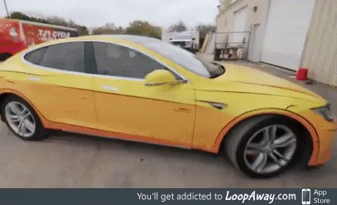 Tesla owner made his car look like a cartoon with a cell shaded vinyl wrap
