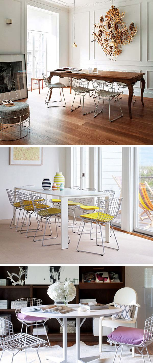 Bertoia Wire Chairs.. they're beautiful!