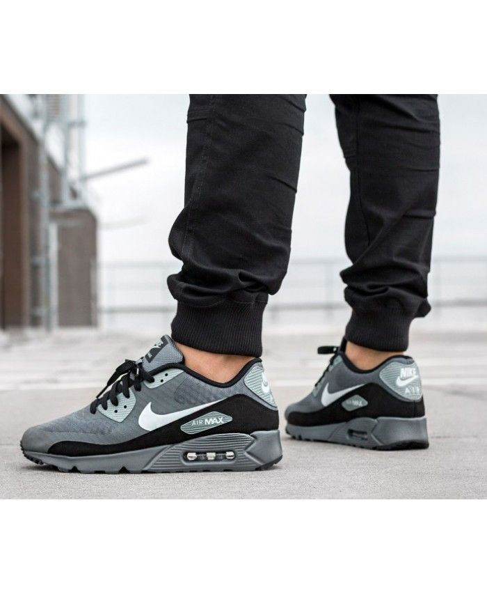 new product 2e376 6b70e Nike Air Max 90 Ultra Essential Grey Black Trainers Clearance | Nike ...