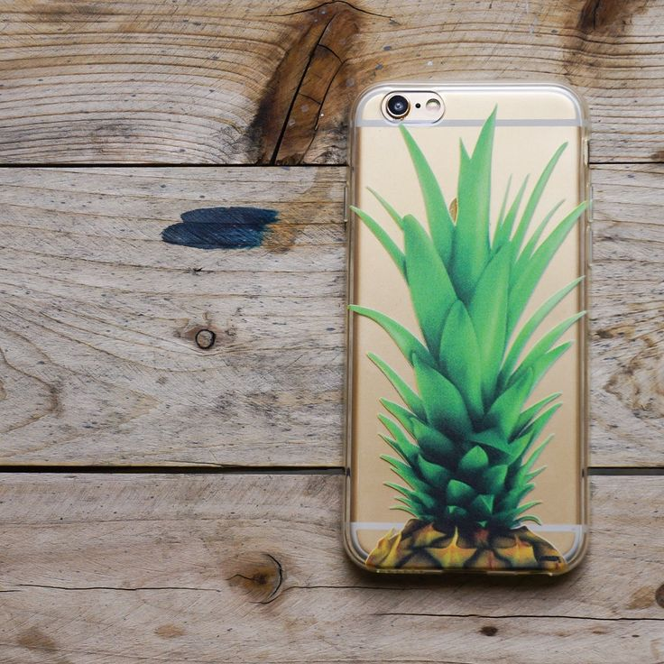 """Clear TPU Case Cover for iPhone 6 (4.7"""") Pineapple Head"""