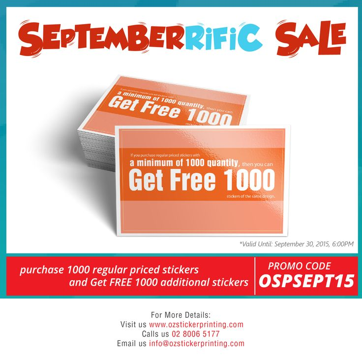 Want more sticker sale sure check our septemberrific sale purchase 1000 regular priced