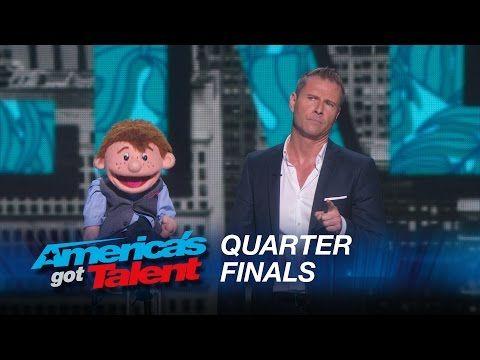Paul Zerdin: Dummy Still Performs After Ventriloquist Walks Off Stage - America's Got Talent 2015 - YouTube