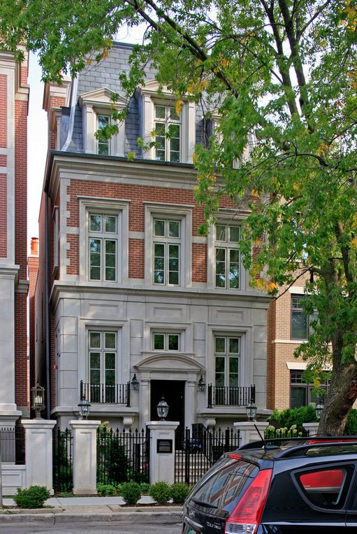 91 best chicago townhomes images on pinterest burns for Townhouse architectural styles