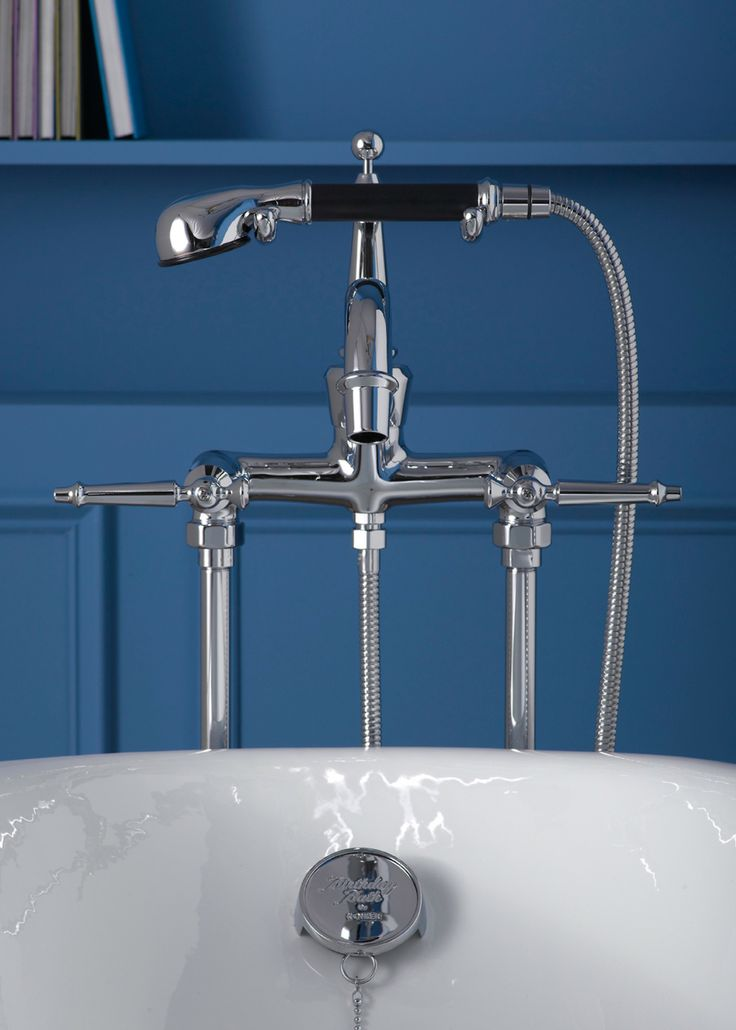 This Antique Bath Faucet With Handshower Creates A