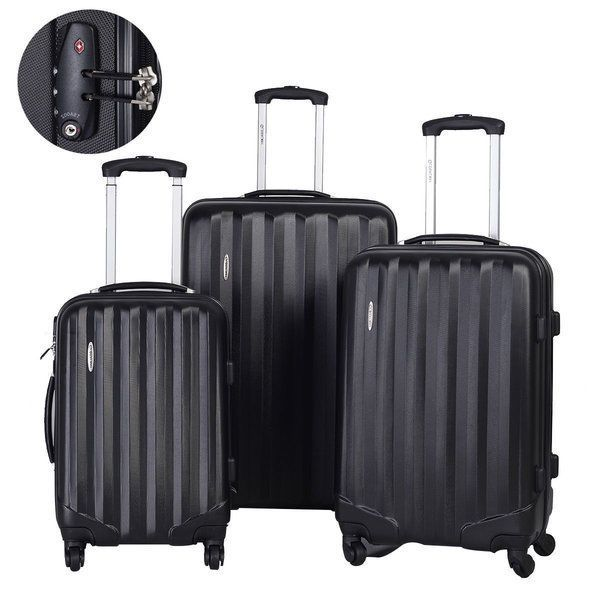 Luggage Travel Trolley Bag Cart Folding Hand Dolly Truck Push Rolling, Set 3Pcs #LuggageTravelTrolleyBag