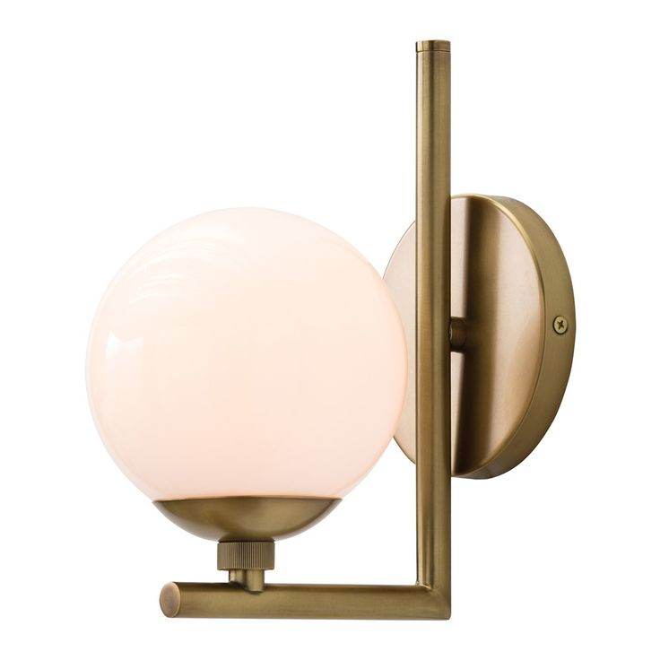 - Quimby Sconce - H: 10in W: 5.5in D: 8in - Steel with Antique Brass finish - 40 watt bulb - Hardwire only - Damp rated: Approved for use in covered outdoor areas or bathrooms. - please allow 1-2 week