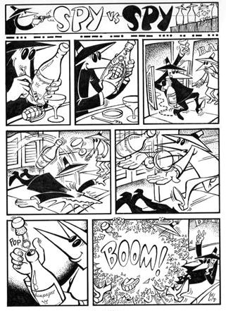 Comic strip espionage