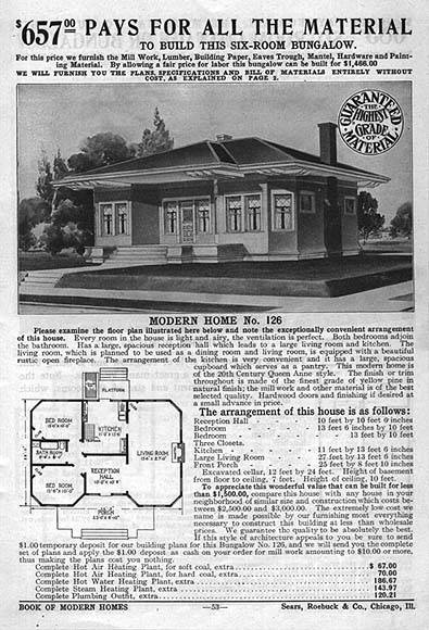 Sears craftsman style house plans - House interior