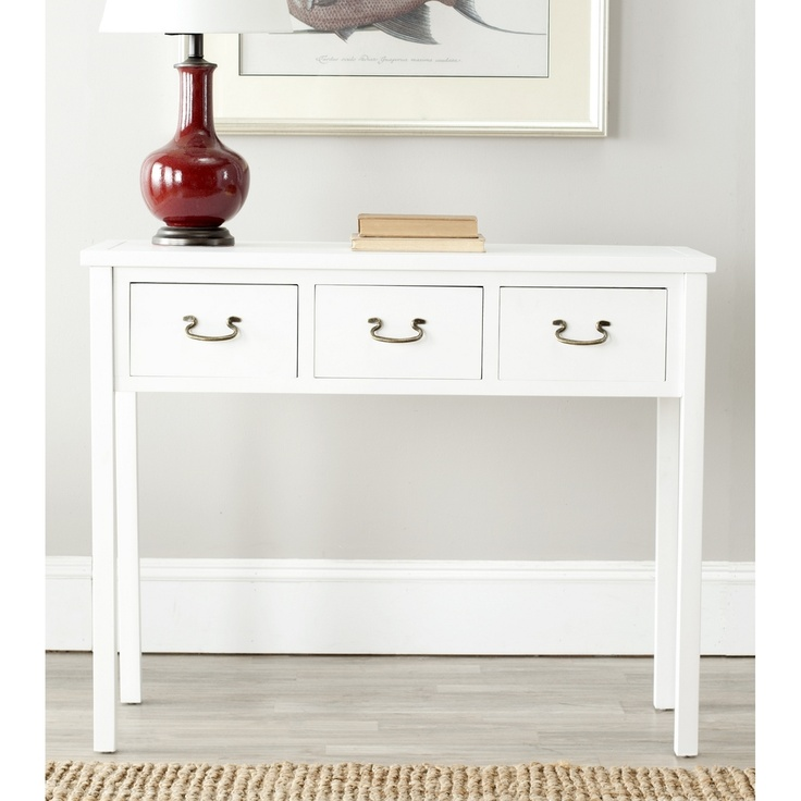 cindy white console table cute but wish longer