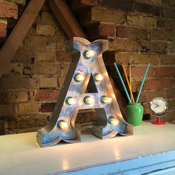 Marquee light up  letter circus font 'A' by softsigns on Etsy