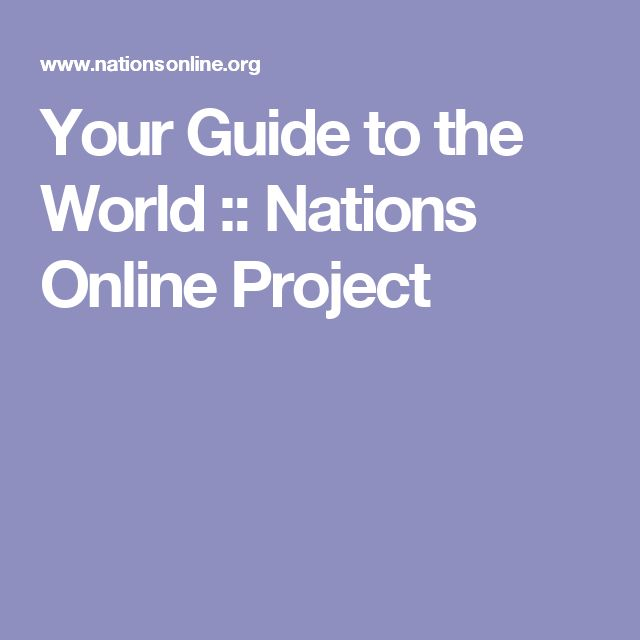 Your Guide to the World :: Nations Online Project
