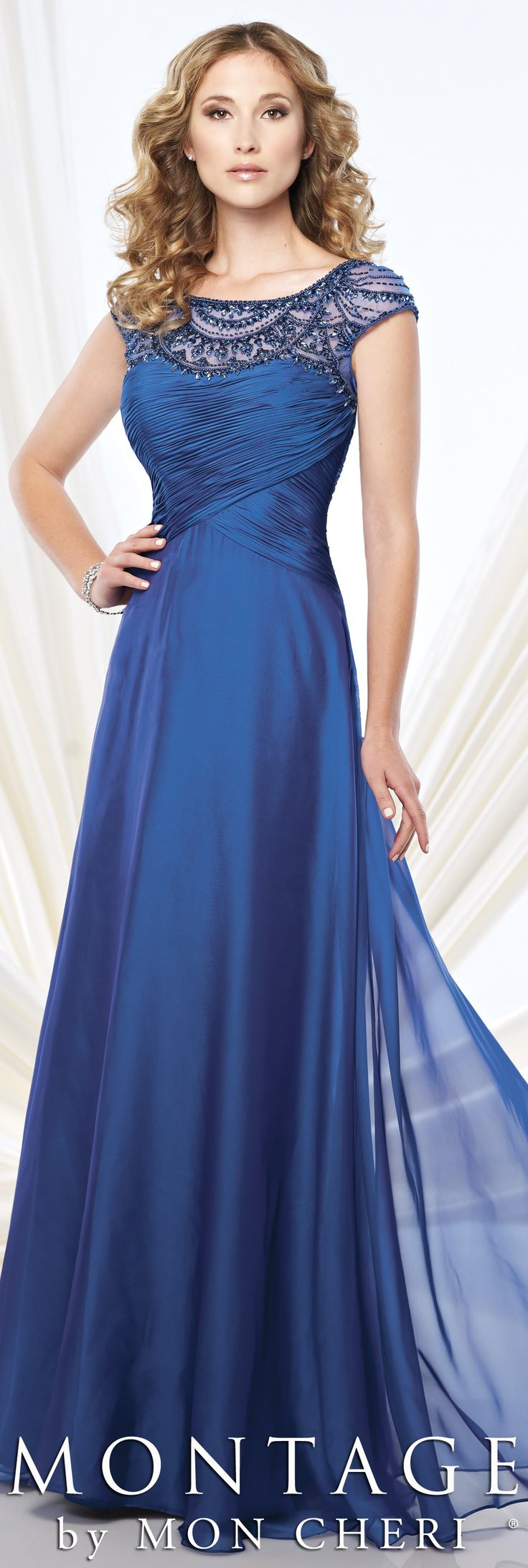 Montage by Mon Cheri Fall 2015 - Style No. 215908 #motherofthebridedress