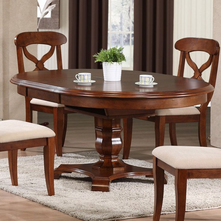Sunset Trading Andrews Pedestal Oval Dining Table | From Hayneedle.com