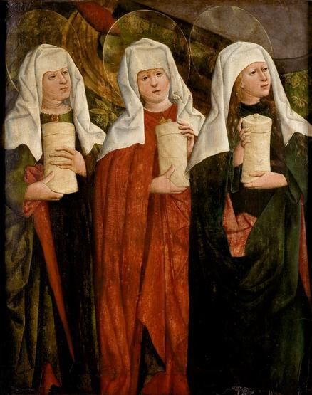 Trzy Marie u grobu Chrystusa z kościoła w Niegowici, ok. 1470