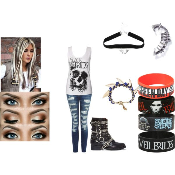artemis nightshade lead singer of night wolves by artemis-nightshade on Polyvore featuring Current/Elliott, Jeffrey Campbell and John & Pearl