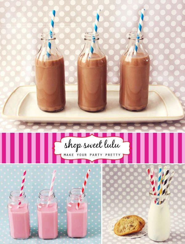 """'Pretty Your Party' Shop Sweet Lulu"" #birthday #party #candy #theme #dessert  #decoration #buffet #shop #sweet #lulu #milk #straw"