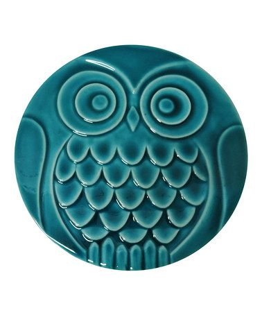 Loving this Turquoise Ceramic Owl Stepping Stone on #zulily! #zulilyfinds