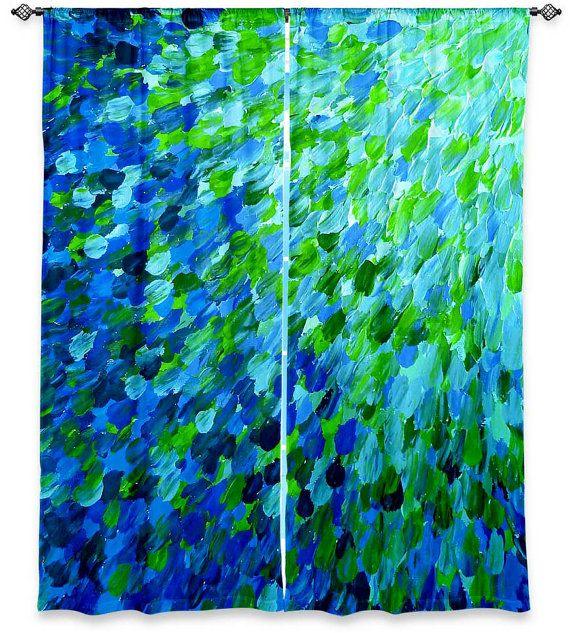 Ocean Splash Teal Blue Green Waves Fine Art Window