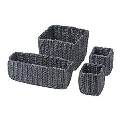 IKEA - NORDRANA, Basket, set of 4,  , , Each basket is unique since they are handmade.