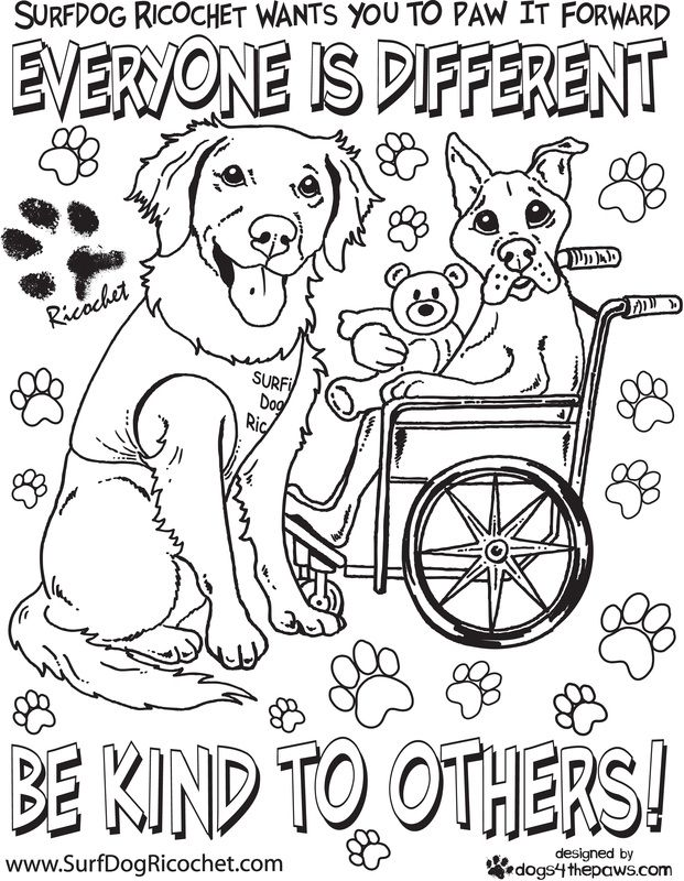Anti Bullying Coloring Pages Surfdog Ricochet