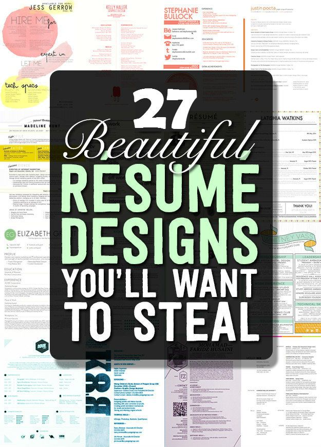 27 DIY Resume Designs | http://www.iluvdiyideas.com/27-diy-resume-designs/