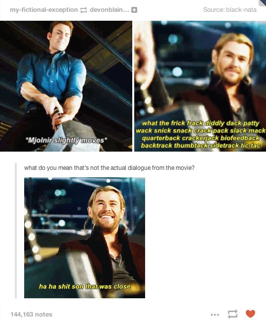 When Cap can almost pick up Thor's hammer || Steve Rogers, Thor Odinson || Avengers: Age of Ultron || ?x? || #fanedit #humor