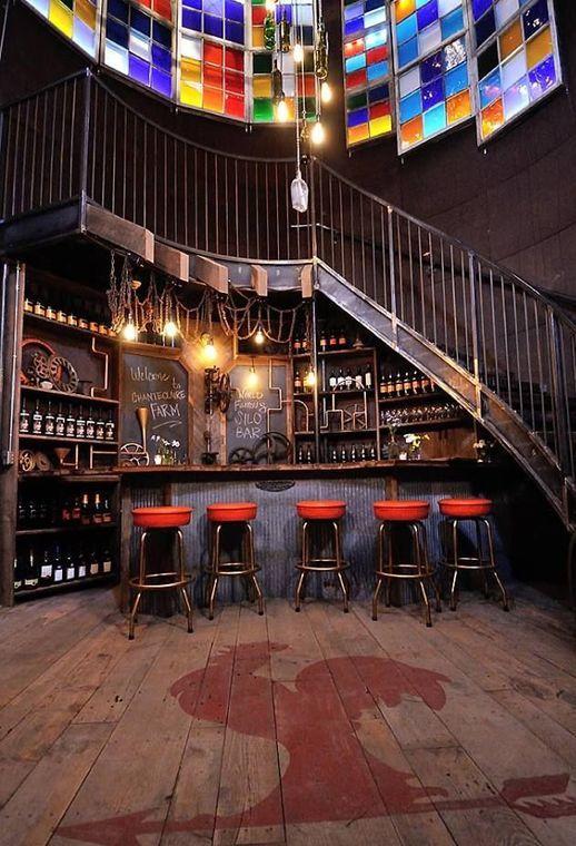 Farmhouse Kitchen Silo Bar