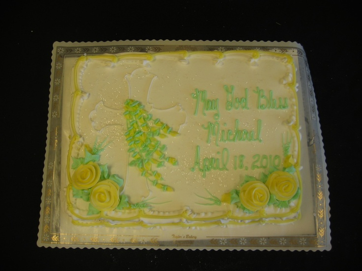 conformation cake | Christening, Communion & Confirmation Cakes « Taylors Bakery