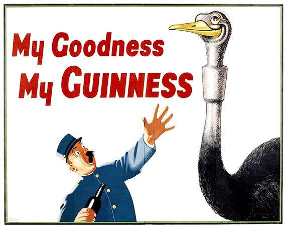 Guinness mon Dieu mon Guinness publicité Vintage émail métal étain signe Plaque de mur