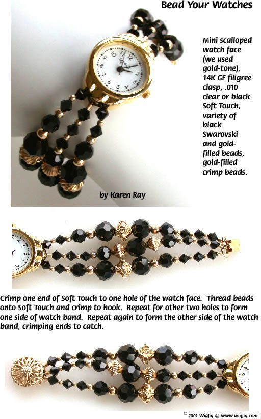 Page 10 to instructions for making Bead Your Watches bracelets-- a jewelry making project.