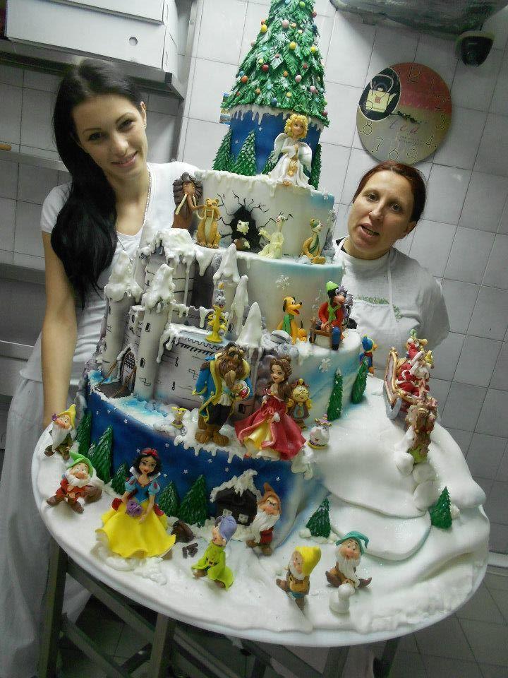 Disney Princesses. Cake.