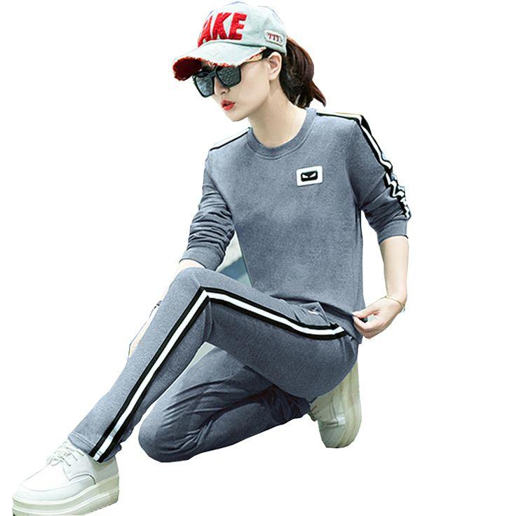 2 piece set tracksuit for women long sleeve tracksuits Women suits Plus Size Sportswear Clothing trainingspak tuta da ginnastica