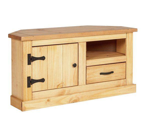 Buy HOME San Diego 1 Drawer Corner TV Unit   Solid Pine At Argos.co