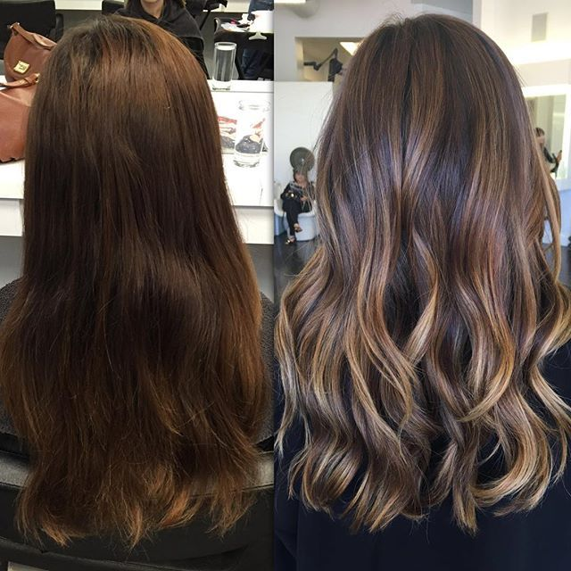Before and After ✨ #ColorByAshley haircut by @jenniehairartist | Evened out this beauty's previous color from another salon that caused bands in her hair, so by doing a Balayage and just evening out the color, she will be #bronde in no time! Sometimes it just takes more then once! #babysteps #healthyhair