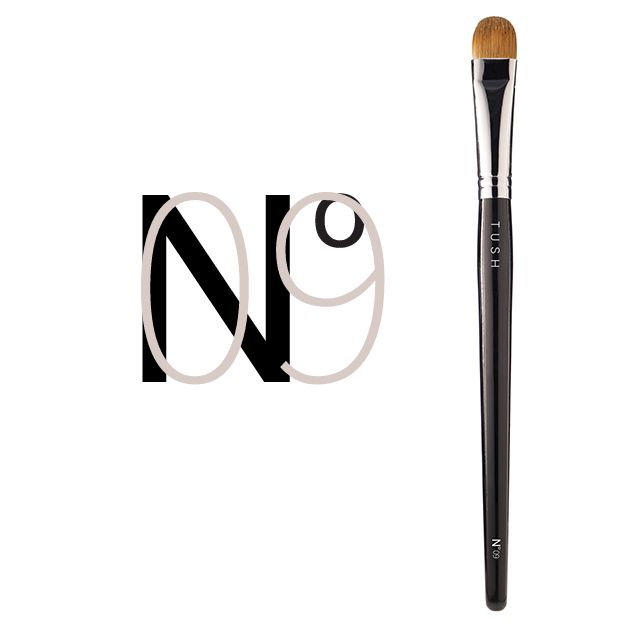 Nr 09 Large Eyeshadow Brush. Made of natural bristles this slightly curved brush with soft yet firm bristles allows you to perfectly apply, shade and blend any look by playing with light and shadows. Available at www.tushbrushes.com