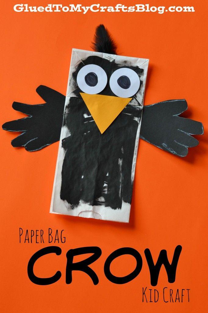 Paper Bag Crow {Kid Craft}