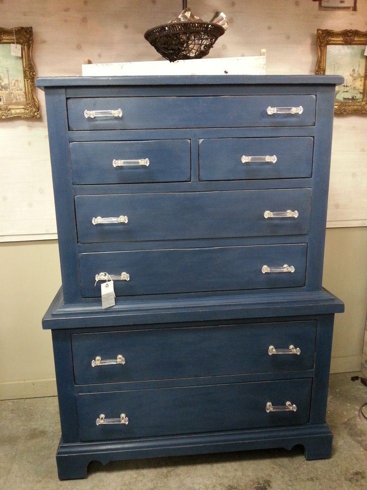 Chest On Chest Of Drawers Painted With Amy Howard One Step Paint In Lady Singing The Blues