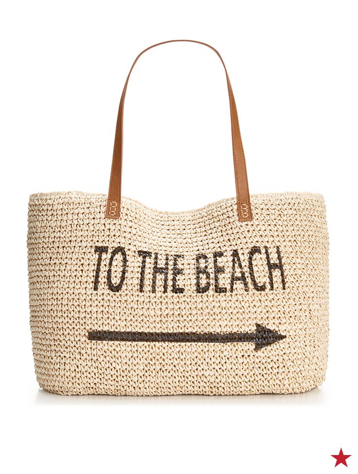 Beach or bust! Every sand and sea lover is going to want to get her hands on this straw beach bag from Style&Co. Plus, it's the perfect size for your beach towel, water bottle and a good book.