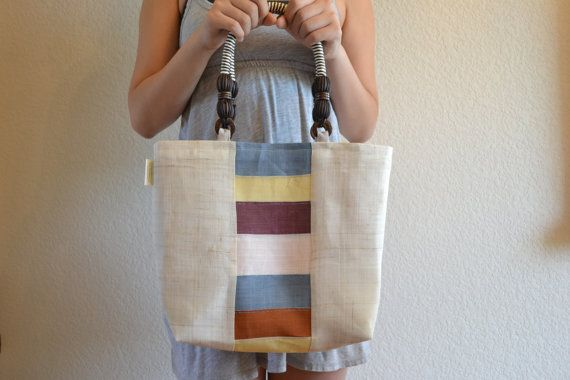 Summer Jogakbo Tote Natural by Youngminlee on Etsy