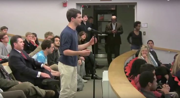 VIDEO: It's Unwise For Leftists To Challenge D'Souza - WATCH: D'Souza gets accosted by a freshman, and a reasonably intelligent one, with questions about white privilege and Islamic militancy.