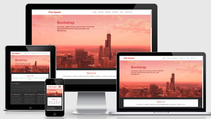 City Square – Bootstrap HTML5 template for Business
