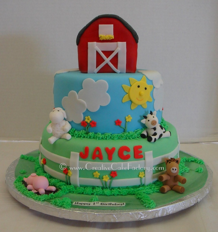 17+ Best Images About Farm Birthday Cakes On Pinterest