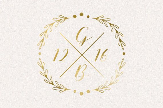 Wedding Monogram, Wedding Logo, DIY wedding, wedding initials, printable wedding, wreath monogram, leaves monogram, rustic monogram by TheFabledPapery on Etsy https://www.etsy.com/listing/269663127/wedding-monogram-wedding-logo-diy