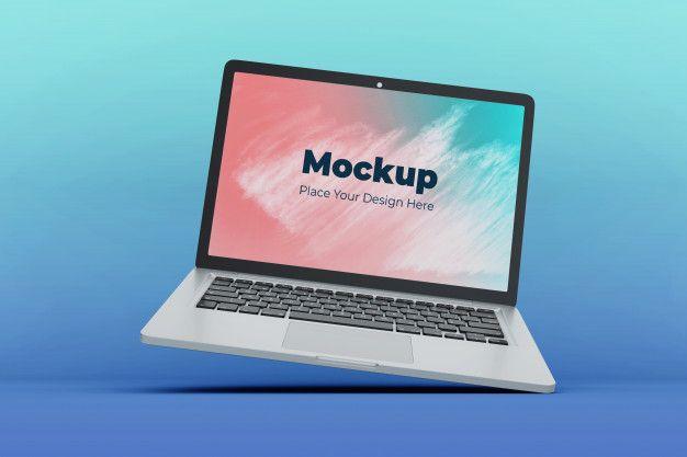 Customizable Floating Laptop Screen Mockup Design Template Laptop Screen Mockup Design Mockup