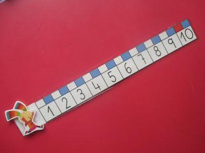 Aquí os muestro las rectas numéricas que he hecho para las mesas de los alumnos. Este año estamos trabajando con el p...