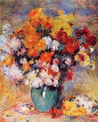 Vase of Chrysanthemums - Pierre-Auguste Renoir